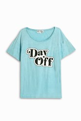 Wildfox Couture Day Off T Shirt Blue