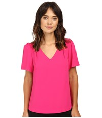 Trina Turk Ease Top Magpie Magenta Women's Clothing Pink