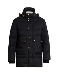 Moncler Gamme Bleu Quilted Down Coat Navy