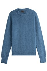 Jil Sander Pullover With Mohair Blue