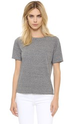 Amo Tomboy Pocket Tee Heather Grey With Destroy