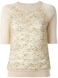 Chloe Half Sleeve Jumper Nude And Neutrals