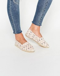 Pieces Haisha Patterned Pearl Espadrillles Pearl Multi