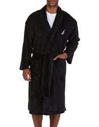 Nautica Shawl Collar Robe Black