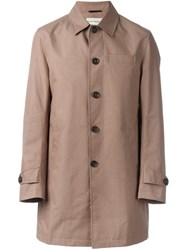 Oliver Spencer 'Bolt Mac' Coat Nude Neutrals