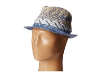 Bcbgeneration Soft Stripe Fedora Seaside Traditional Hats Blue