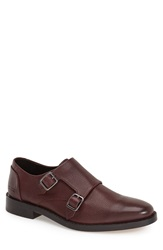 Ben Minkoff 'Mansfield' Double Monk Strap Shoe Men Oxblood