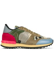 Valentino 'Rockrunner' Sneakers Green