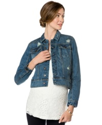 A Pea In The Pod Maternity Distressed Denim Jacket