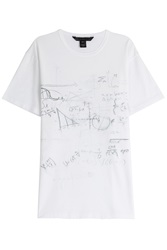 Marc By Marc Jacobs Chalkboard Printed Cotton T Shirt White