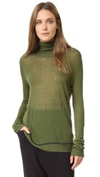 Baja East Turtleneck Sweater Olive