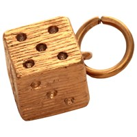 Mirabelle Magic Dice Charm Gold
