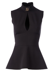 Givenchy Peplum Tank Top Black