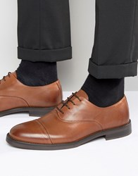 Selected Marc Toe Cap Shoes In Tan Leather Tan Brown