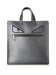 Fendi Bag Bugs Leather Tote Black