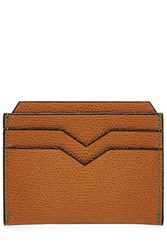 Valextra Leather Card Holder Brown