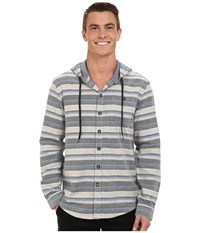 Billabong Upstate Long Sleeve Hooded Flannel Silver Men's Clothing