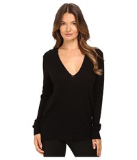 Theory Adrianna Feather Cashmere Sweater Black Women's Sweater