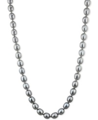Honora Style Grey Cultured Freshwater Pearl Necklace In Sterling Silver 7 8Mm
