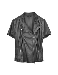 Forzieri Short Sleeve Nappa Leather Jacket