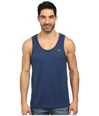 Lacoste Cotton Jersey Tank Top Philippines Blue Men's Sleeveless