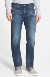 Jean Shop 'Rocker' Straight Leg Selvedge Jeans Work Worn Dark