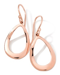 18K Rose Gold Smooth Open Teardrop Earrings 32Mm Ippolita