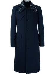 J.W.Anderson Studded Collar Coat Blue