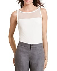 Ralph Lauren Sheer Yoke Tank French Cream