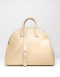 Matt And Nat Round Tote Bag Cardamom Beige