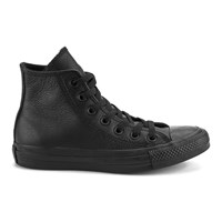 Converse Unisex Chuck Taylor All Star Leather Hi Top Trainers Black Monochrome