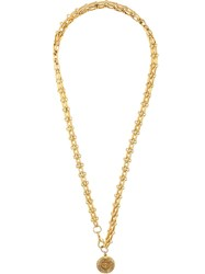 Chanel Vintage Rolo Chain Necklace Metallic