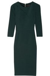 Roland Mouret Hisley Stretch Crepe Dress Dark Green