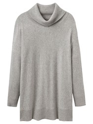 Joules Eartha Roll Neck Jumper Soft Grey Marl