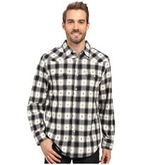 True Grit Fire Mountain Icons Long Sleeve Two Pocket Western Shirt With Contrast Chambray Natural Indigo Men's Clothing Blue