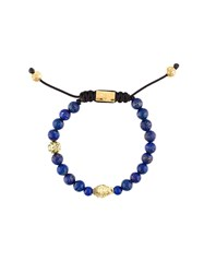 Nialaya Jewelry Beaded Buddha Bracelet Blue