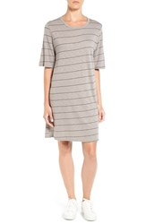 Michelle By Comune Women's 'Canonbury' Stripe Dress Light Grey Black