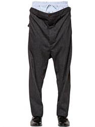 Vivienne Westwood Layered Wool And Cotton Suiting Pants