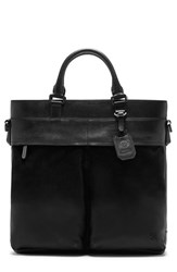 Men's Vince Camuto 'Surbo' Convertible Suede Tote Black Jet Black Oxford
