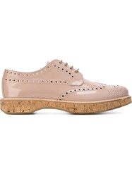 Church's Cork Effect Sole Perforated Brogues Pink And Purple