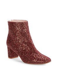 Kate Spade Tal Glitter Ankle Boots Bordeaux