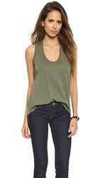 Splendid Very Light Jersey Tank Army Green
