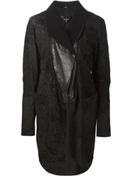 Ann Demeulemeester Zipped Collar Jacket Black