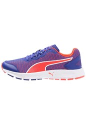 Puma Descendant V4 Cushioned Running Shoes Royal Blue Red Blast White