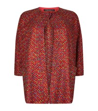 Marina Rinaldi Open Front Boucle Coat Female Red