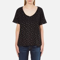 Maison Scotch Women's Loose Fit T Shirt Black