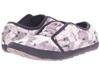 The North Face Thermoball Traction Mule Ii Rabbit Grey Swashed Print Nine Iron Grey Women's Slippers White
