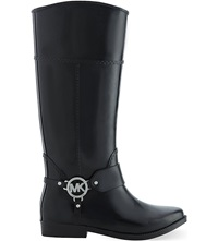 Michael Michael Kors Fulton Harness Wellington Boots Blk Other