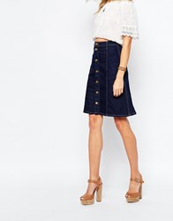 Pepe Jeans Denim A Line Knee Skirt Blue