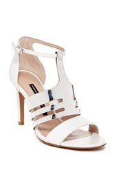 French Connection Lia Ankle Strap Sandal White